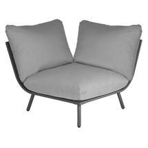 Beach Corner Module Lounge - Flint Frame/Grey Cushion