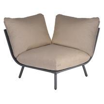 Beach Corner Module Lounge - Flint Frame/Taupe Cushion