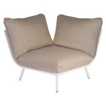 Beach Corner Module Lounge - Shell Frame/Taupe Cushion