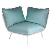 Beach Corner Module Lounge - Shell Frame/Jade Cushion