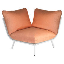 Beach Corner Module Lounge - Shell Frame/Ochre Cushion