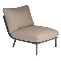 Beach Middle Module Lounge - Flint Frame/Taupe Cushion
