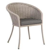 Cordial Beige Dining Chair with Anthracite Cushion