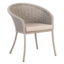 Cordial Beige Dining Chair with Oatmeal Cushion