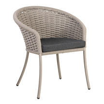 Cordial Beige Dining Chair with Charcoal Cushion