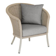 Cordial  Beige Curved Top Lounge Chair with Anthracite Cushions
