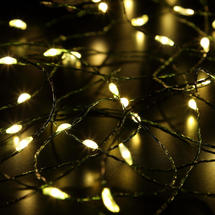 Micro LED Tree Lights Green Wired 360 Warm White bulbs