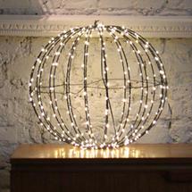 Black Warm white LED 30cm Sphere