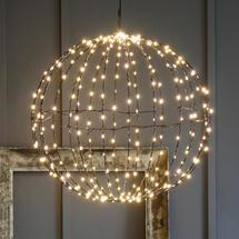 Black Warm white LED 50cm Sphere