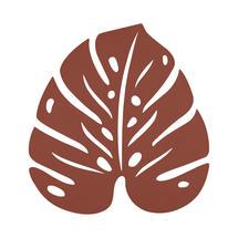 Monstera Leaf Trivet - Red Ochre