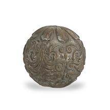 Decorative Sphere Grey Patterned