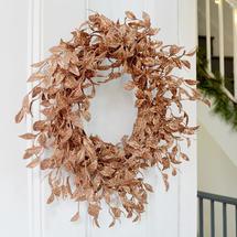 Copper Honeysuckle Wreath