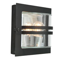Bern Outdoor Lantern - Black / Clear Lens