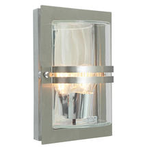 Basel Wall Lantern - Stainless Steel / Clear Lens
