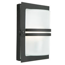 Basel Wall Lantern - Black / Frosted Lens