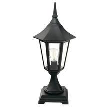 Valencia Pedestal Lantern - Black