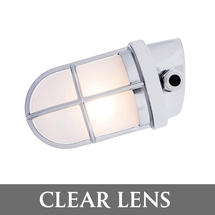 Angled Grille Lamp - Chrome/Clear Lens