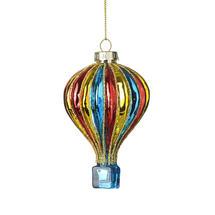 Coloured Glass Air Balloon - Blue
