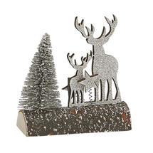 Winter Woodland Scene on Log Decoration