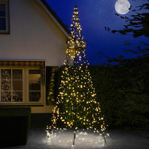 3D 4m Christmas Tree with Static Warm White 640 LEDs