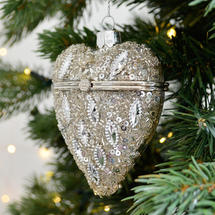 Heart Shaped Trinket Bauble - Vintage Silver