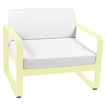 Bellevie Outdoor Armchair - Frosted Lemon/Off White