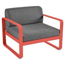 Bellevie Outdoor Armchair - Capucine/Graphite Grey