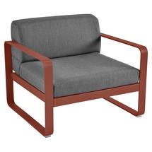 Bellevie Outdoor Armchair - Red Ochre/Graphite Grey