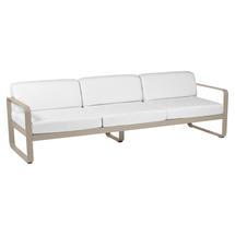 Bellevie Outdoor 3 Seater Sofa - Nutmeg/Off White