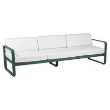 Bellevie Outdoor 3 Seater Sofa - Cedar Green/Off White