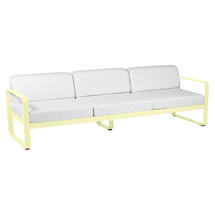 Bellevie Outdoor 3 Seater Sofa - Frosted Lemon/Off White