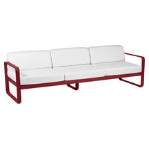 Bellevie Outdoor 3 Seater Sofa - Chilli/Off White