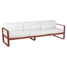 Bellevie Outdoor 3 Seater Sofa - Red Ochre/Off White