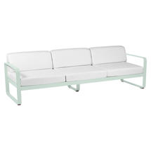 Bellevie Outdoor 3 Seater Sofa - Ice Mint/Off White