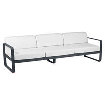 Bellevie Outdoor 3 Seater Sofa - Anthracite/Off White