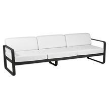 Bellevie Outdoor 3 Seater Sofa - Liquorice/Off White