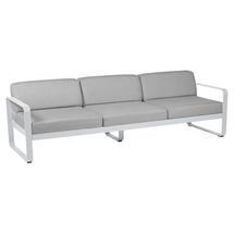 Bellevie Outdoor 3 Seater Sofa - Cotton White/Flannel Grey