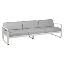 Bellevie Outdoor 3 Seater Sofa - Clay Grey/Flannel Grey