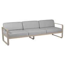 Bellevie Outdoor 3 Seater Sofa - Nutmeg/Flannel Grey