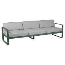 Bellevie Outdoor 3 Seater Sofa - Cedar Green/Flannel Grey