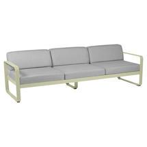 Bellevie Outdoor 3 Seater Sofa - Willow Green/Flannel Grey