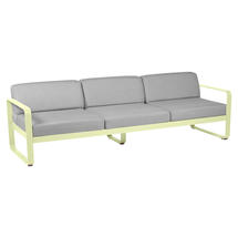 Bellevie Outdoor 3 Seater Sofa - Frosted Lemon/Flannel Grey