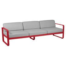 Bellevie Outdoor 3 Seater Sofa - Poppy/Flannel Grey