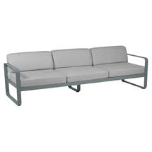Bellevie Outdoor 3 Seater Sofa - Storm Grey/Flannel Grey