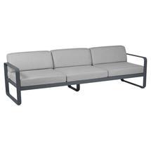 Bellevie Outdoor 3 Seater Sofa - Anthracite/Flannel Grey