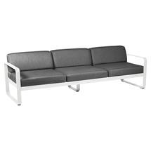Bellevie Outdoor 3 Seater Sofa - Cotton White/Graphite Grey