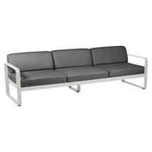 Bellevie Outdoor 3 Seater Sofa - Clay Grey/Graphite Grey