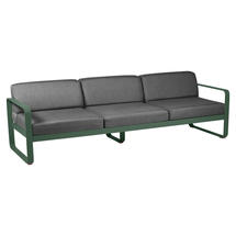 Bellevie Outdoor 3 Seater Sofa - Cedar Green/Graphite Grey