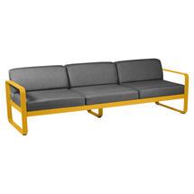 Bellevie Outdoor 3 Seater Sofa - Honey/Graphite Grey