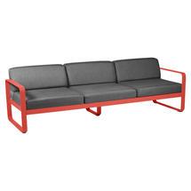 Bellevie Outdoor 3 Seater Sofa - Capucine/Graphite Grey